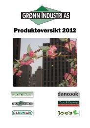 Grønn Industri katalog (produktkatalog 2012) - Sem Bruk AS