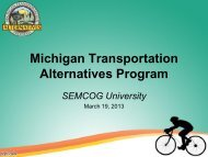 TAP Eligible Activities and MDOT Process - Semcog