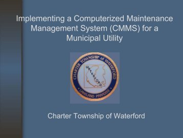 Implementing a Computerized Maintenance Management ... - Semcog