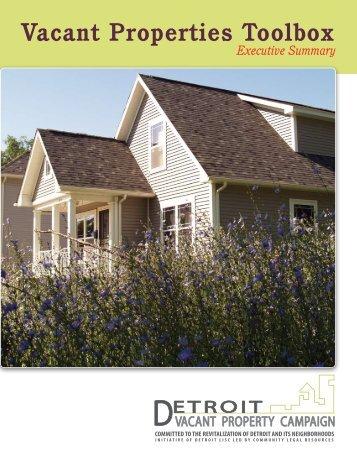 Vacant Properties Toolbox - Semcog
