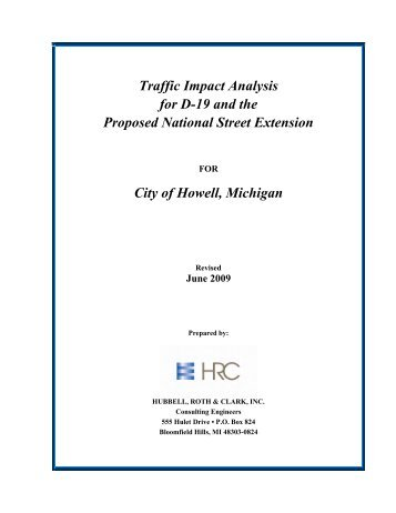 Traffic Impact Analysis for D-19 and the Porposed National ... - semcog