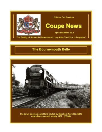 Bournemouth Belle - Southern Email Group