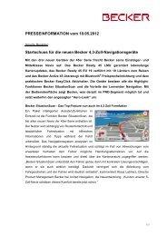 Download Pressemeldung - mobilenavigation.mybecker.com