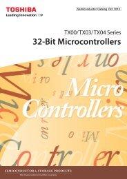 32-Bit Microcontrollers TX00/TX03/TX04 Series