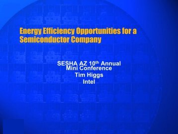 Energy Efficiency Opportunities for a Semiconductor Company
