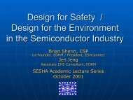 Design for Safety / Design for the Environment in the Semiconductor ...