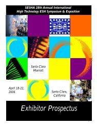 Exhibitor Prospectus - Semiconductor Safety Association
