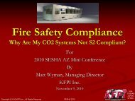 Fire Safety Compliance and associated SEMI S2 Guidelines - sesha