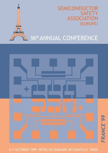 SSA Europe Annual Meeting Program (October '99 in France)