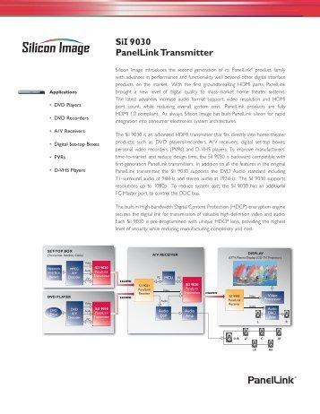 SiI 9030 PanelLink Transmitter
