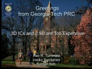 Greetings from Georgia Tech PRC - SEMICON West