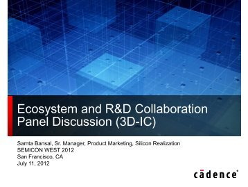 Ecosystem and R&D Collaboration Panel ... - SEMICON West