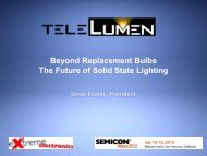 Beyond Replacement Bulbs The Future of Solid ... - SEMICON West