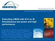 Extending CMOS with III-V on Si: Simultaneous ... - SEMICON West