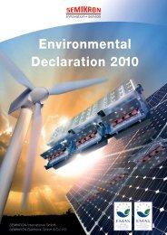 Environmental Declaration 2010 - Semikron