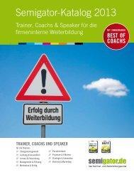 Semigator Trainerkatalog 2013 - Semigator.de