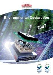 Environmental Declaration - Semikron
