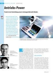 Trends in der Entwicklung neuer Leistungselektronik ... - Semikron
