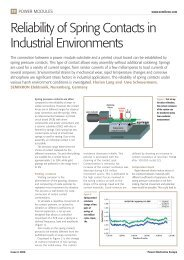 Reliability of Spring Contacts in Industrial Environments - Semikron