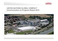 Communication on Progress Report 2012 - Semikron