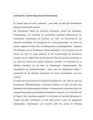 Lebenslauf Dr. Joachim Nagel (Deutsche Bundesbank) Dr. Joachim ...