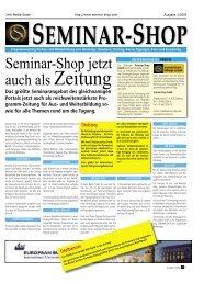 Flyer Seminar-Shop Zeitung - Seminar-Shop GmbH