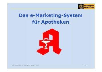 Das e-Marketing-System für Apotheken - Seminar-Shop GmbH
