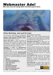 Webmaster Ade! - Seminar-Shop GmbH