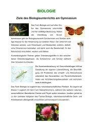 biologie - Staatliches Seminar für Didaktik und Lehrerbildung Stuttgart
