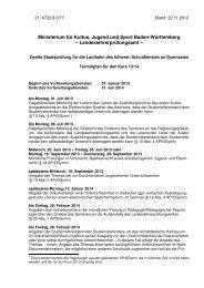 Terminplan Kurs 2013/14