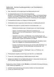 Mathematik - Zentrale Ausbildungsinhalte in der Fachdidaktik im ...