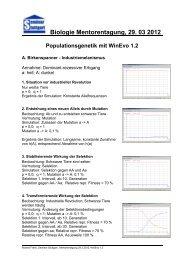 Biologie Mentorentagung, 29. 03 2012 Populationsgenetik mit ...