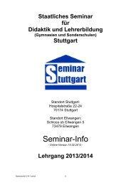 Kurs 2013/14 - Staatliches Seminar für Didaktik und Lehrerbildung ...