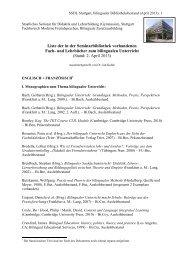 bilingualer Bibliotheksbestand - Staatliches Seminar für Didaktik ...