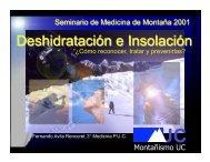 Deshidratación e insolación - Seminario de Medicina de Montaña