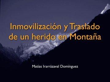 Inmovilización y Traslado en Montaña - Seminario de Medicina de ...