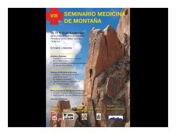 Lesiones en escalada - Seminario de Medicina de Montaña