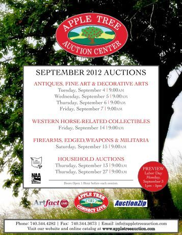 SEPTEMBER 2012 AucTionS