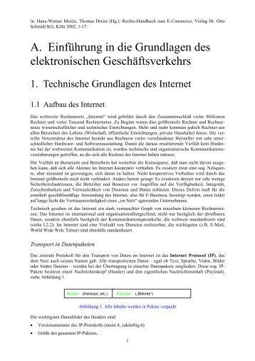 Einführung in die Grundlagen des elektronischen Geschäftsverkehrs