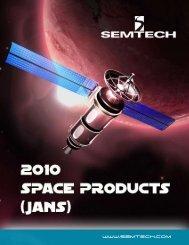 2010 Space Products (JANS) Catalog - Semtech