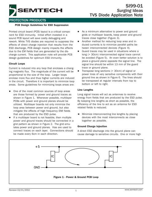 PCB Design Guidelines for ESD Suppression - Semtech