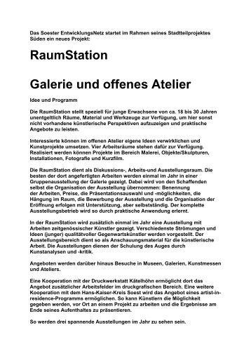 RaumStation Galerie und offenes Atelier - SEN eV - Soester ...