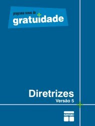 Programa Senac de Gratuidade - Diretrizes