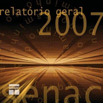 senac relatório geral 2007