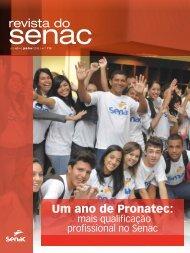 Um ano de Pronatec - Senac