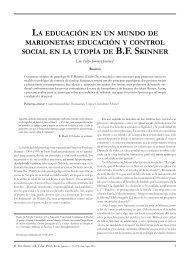 educación y control social en la utopía de bf skinner - Senac