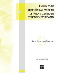AVALIAÇÃO DE COMPETÊNCIAS PARA FINS DE ... - Senac