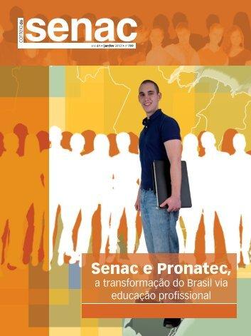 Senac e Pronatec, a transformação do Brasil via