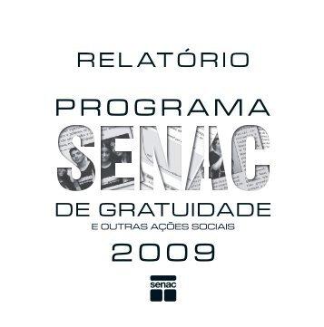 Programa Senac de Gratuidade e outras ações sociais 2009