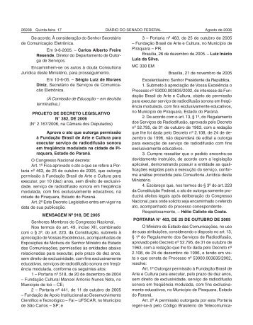 capa SF 2005.cdr - Senado Federal